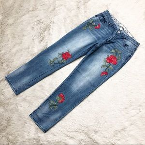 Vintage America Denim Jeans Boyfriend Embroidered